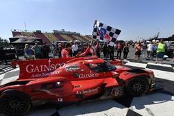 #99 JDC/Miller Motorsports ORECA 07, P: Stephen Simpson, Mikhail Goikhberg, Chris Miller drives into Victory Lane