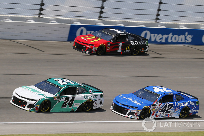 William Byron, Hendrick Motorsports, Chevrolet Camaro Unifirst, Kyle Larson, Chip Ganassi Racing, Chevrolet Camaro Credit One Bank e Jamie McMurray, Chip Ganassi Racing, Chevrolet Camaro McDonald's/Cessna