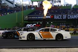 David Coulthard, races Kurt Busch, driving the Whelen NASCAR