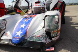 Crash, #81 DragonSpeed ORECA 07: Loic Duval