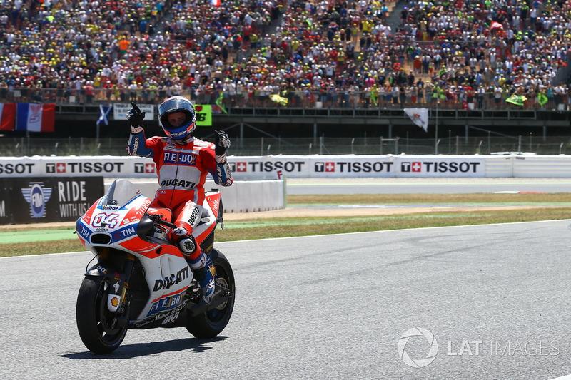 Andrea Dovizioso, Ducati Team, celebra