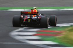 Sparks fly from Max Verstappen, Red Bull Racing RB13