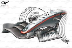 McLaren MP4-20 2005 front wing and nose