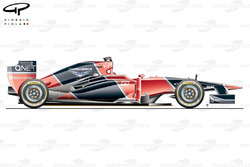Marussia MR02 side view