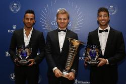 Lewis Hamilton, Nico Rosberg campeón del mundo y Daniel Ricciardo