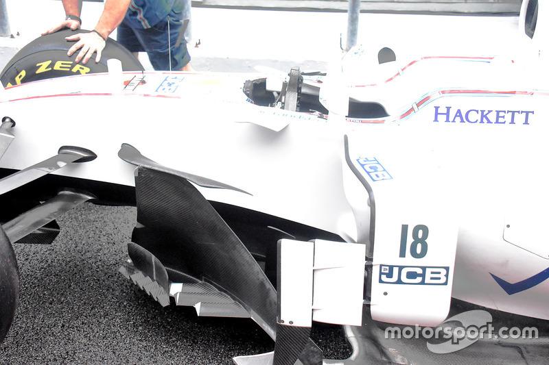 Lateral del Williams FW40