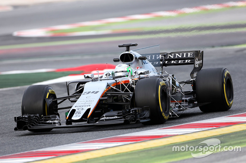Alfonso Celis Jr, Sahara Force India F1 VJM10 Development Driver running sensor equipment
