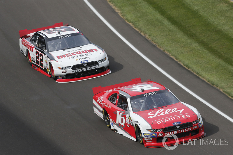 Ryan Reed, Roush Fenway Racing Ford Joey Logano, Team Penske Ford