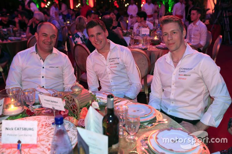 Fredrik Wahlen, Polestar Cyan Racing, Teammanager; Nicky Catsburg, Thed Björk, Polestar Cyan Racing,