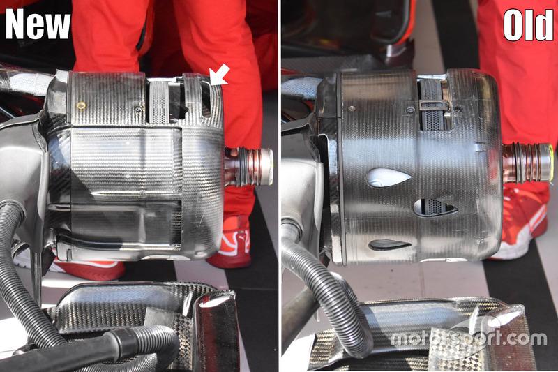 Comparaison des freins de la Ferrari SF-70H