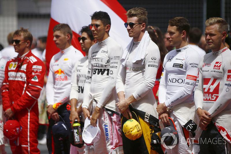 Кими Райкконен, Ferrari, Макс Ферстаппен, Red Bull Racing, Серхио Перес, Force India, Эстебан Окон,