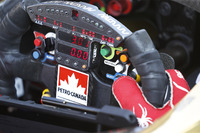 James Hinchcliffe, Schmidt Peterson Motorsports Honda steering wheel cockpit
