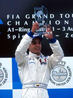 Race winner Juan Pablo Montoya, RSM Marko
