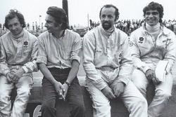 Jean-Pierre Beltoise, Johhny Rives, Henri Pescarolo et François Cevert