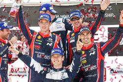 Ganador, Sébastien Ogier, M-Sport, segundo, Thierry Neuville, Nicolas Gilsoul, Dani Sordo, Marc Marti, Hyundai Motorsport