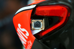 Rear facing camera on the bike of Chaz Davies, Ducati Team