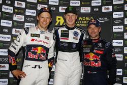 Podium: 1. Johan Kristoffersson, PSRX Volkswagen Sweden; 2. Mattias Ekström, EKS; 3. Sebastien Loeb, Team Peugeot-Hansen