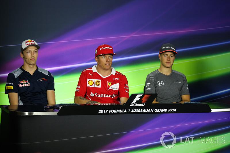 Daniil Kvyat, Scuderia Toro Rosso, Kimi Raikkonen, Ferrari, Stoffel Vandoorne, McLaren