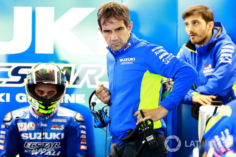 Andrea Iannone, Team Suzuki MotoGP, Davide Brivio, manager del equipo Suzuki MotoGP