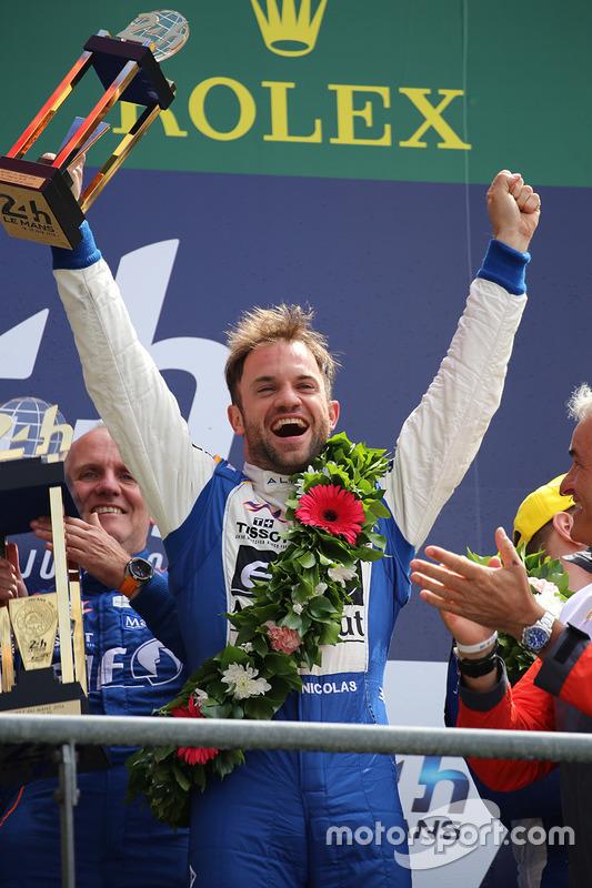 LMP2 podium: class winners #36 Signatech Alpine A460: Nicolas Lapierre