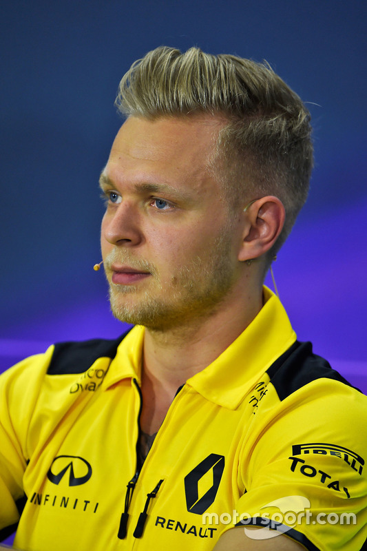 Kevin Magnussen, Renault Sport F1 Team in the press conference