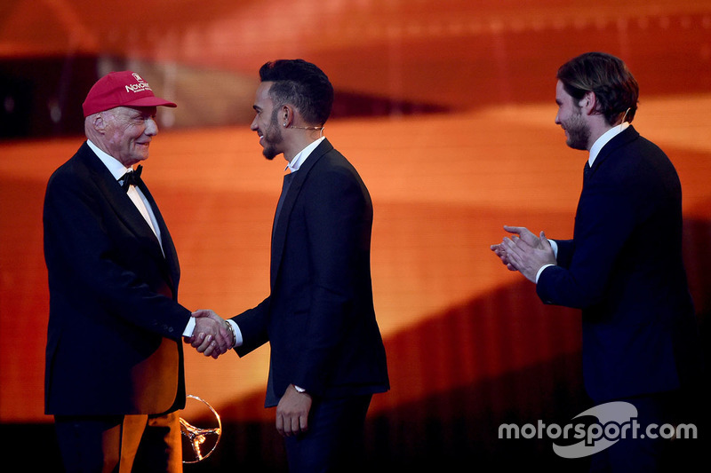 Niki Lauda und Lewis Hamilton, Mercedes AMG F1 Team