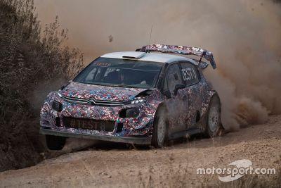 Citroën C3 WRC 2017 October testing