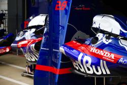 Toro Rosso bodywork in the pit lane