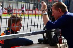 Race winner Max Verstappen, Red Bull Racing with father Jos Verstappen