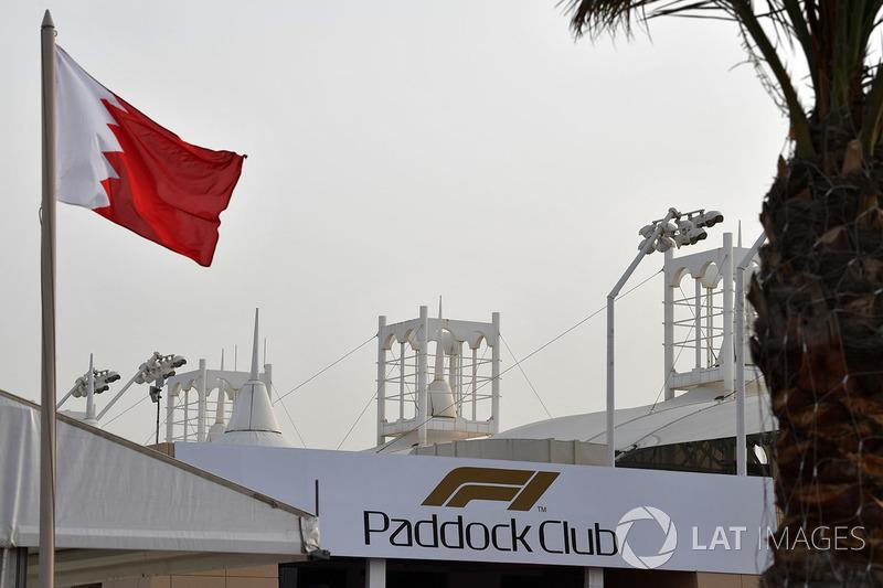 Paddock Club and Bahrain flag