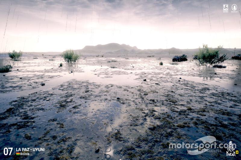 Recreación de la etapa 7: La Paz-Uyuni