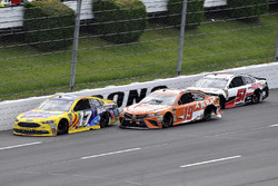 Ricky Stenhouse Jr., Roush Fenway Racing, Ford Fusion Little Hug Fruit Barrels, Daniel Suarez, Joe Gibbs Racing, Toyota Camry ARRIS, and Cole Custer, Rick Ware Racing, Chevrolet Camaro HAAS CNC / Prefund Capital