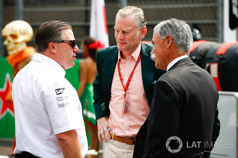 Zak Brown, McLaren, Sean Bratches, Formula Uno, Chase Carey, Formula Uno
