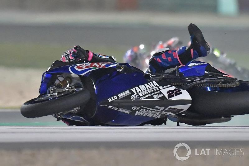 Accidente de Alex Lowes, Pata Yamaha