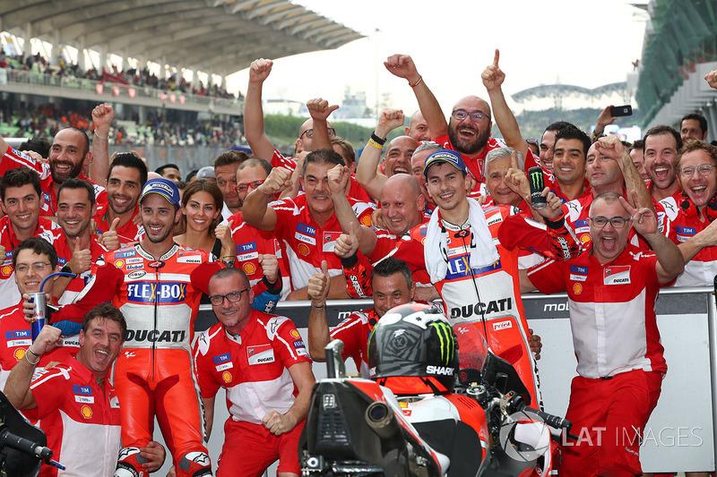 No final, a dobradinha da Ducati e a decisão confirmada para Valência, na última etapa do campeonato de 2017.