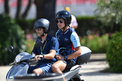 Lance Stroll, Williams on a scooter