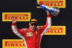 Кімі Райкконен, Ferrari святкує на подіумі