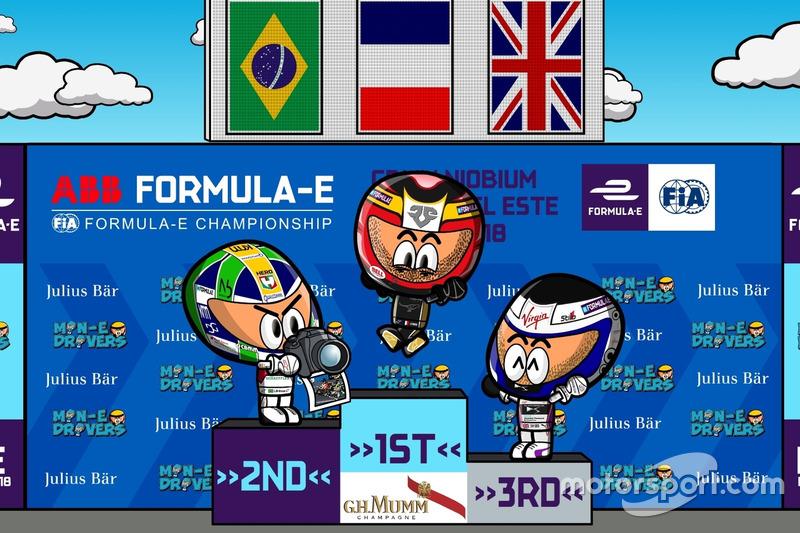 El podio del ePrix de Punta del Este 2018 de Fórmula E, por MinEDrivers