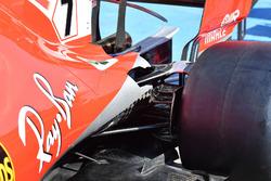 Detalle de la suspensión trasera del Ferrari SF71H