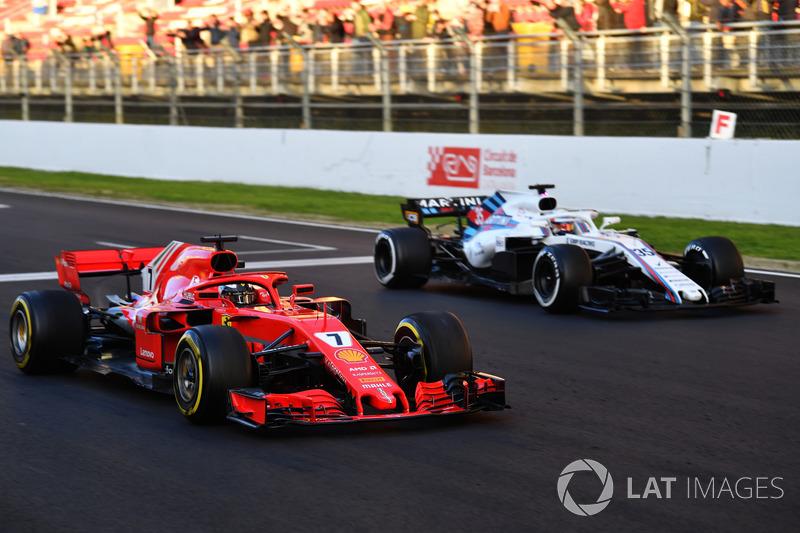 Kimi Raikkonen, Ferrari SF71H, prova di partenza