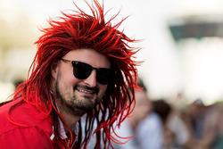 Ferrari fan with wig