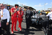 Mattia Binotto, Ferrari Chief Technical Officer on the grid