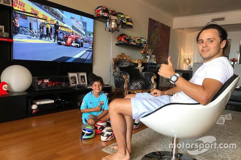 Felipe Massa ve el GP da Hungria con su hijo en casa