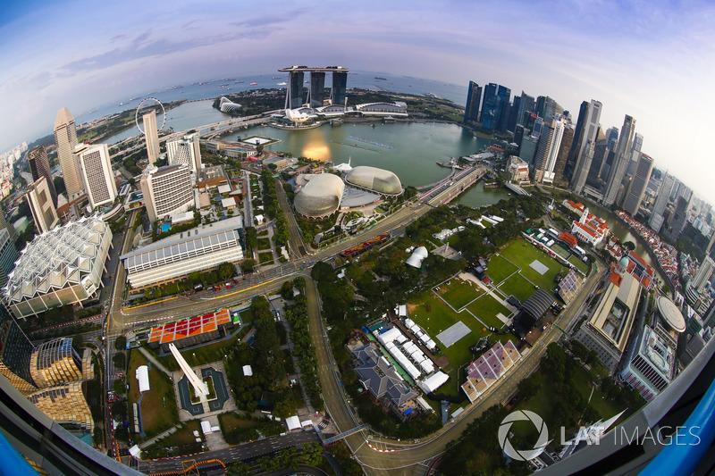 Circuito F1 Singapur : Vista aérea del circuito at gp de singapur fórmula fotos