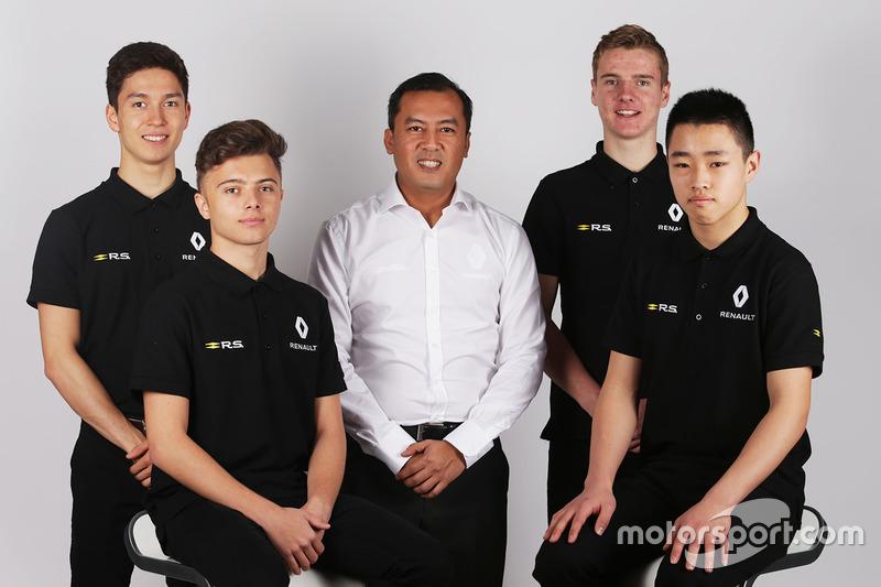 Die Renault-Nachwuchspiloten: Jack Aitken, Max Fewtrell, Jarno Opmeer, Sun Yue Yang