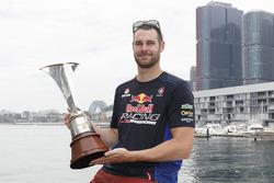 Shane van Gisbergen, Triple Eight Race Engineering Holden with 2016 Championship trophy