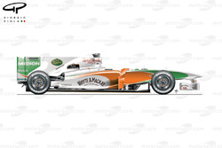 Force India VJM03 side view