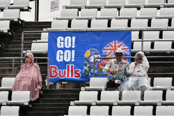 Red Bull Racing fans and banner