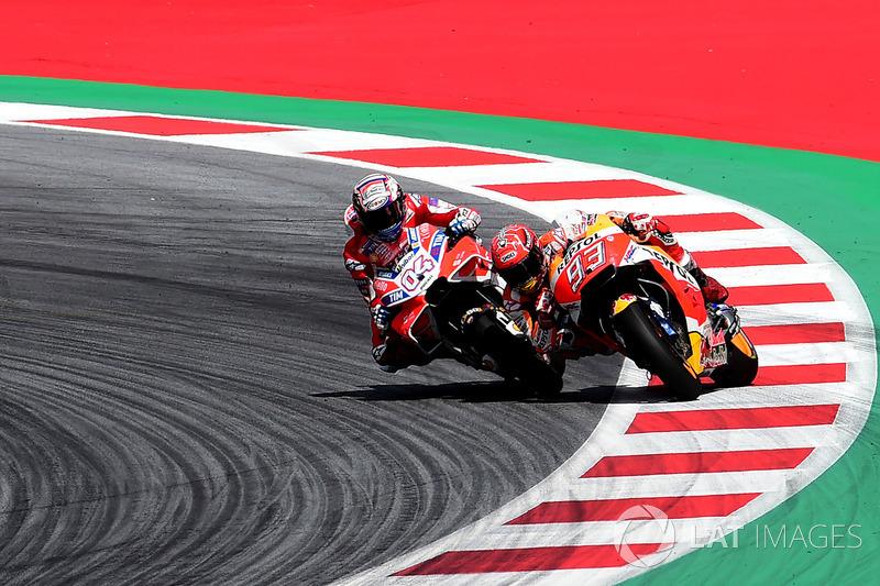 6. Duel panas Dovizioso versus Marquez di Red Bull Ring