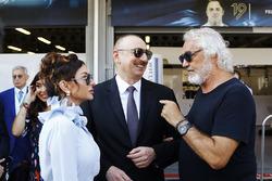 Azerbaycan Başkanı Ilham Aliyev ve First Lady Mehriban Aliyeva, Flavio Briatore